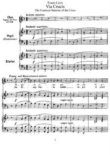 Via Crucis, S.53: Via Crucis by Franz Liszt