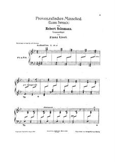 Des Sängers Fluch, Op.139: No.4, for piano, S.570 by Robert Schumann