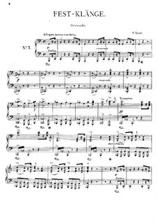Symphonic Poem No.7 'Festklänge', for Piano Four Hands, S.595: Symphonic Poem No.7 'Festklänge', for Piano Four Hands by Franz Liszt