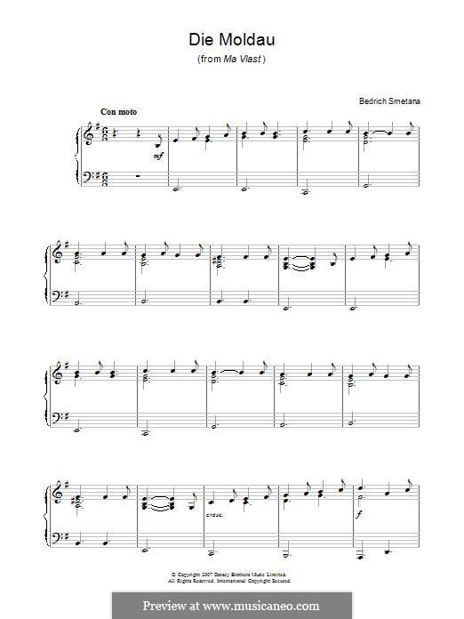 Vltava, T.111: For piano by Bedřich Smetana