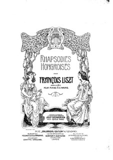 No.16 in A Minor, S.244: For piano four hands by Franz Liszt