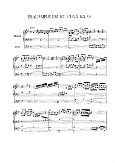 Preamble and Fugue in G Minor: Preamble and Fugue in G Minor by Vincent Lübeck