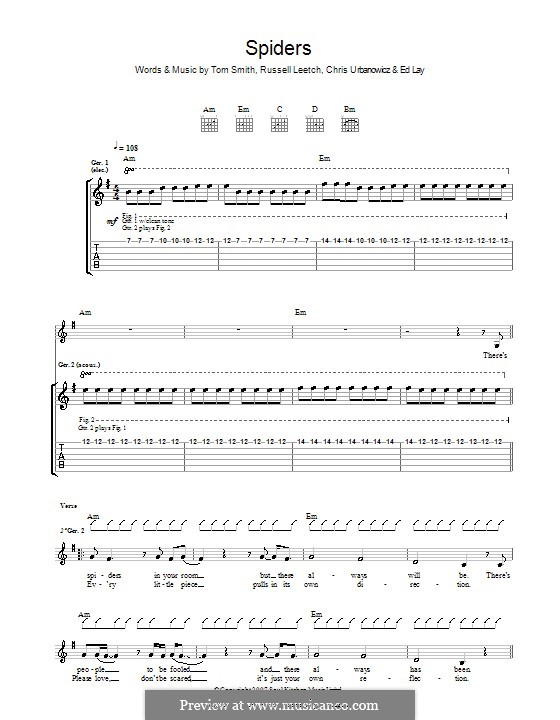Spiders (Editors): For guitar with tab by Christopher Urbanowicz, Edward Lay, Russell Leetch, Thomas Henry Smith