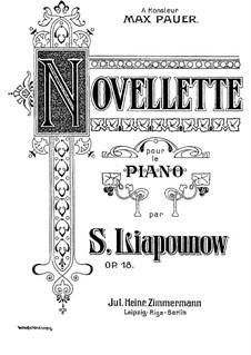Novellette, Op.18: Novellette by Sergei Lyapunov