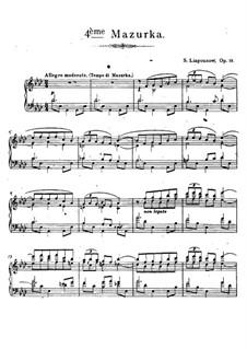 Mazurka No.4, Op.19: Mazurka No.4 by Sergei Lyapunov