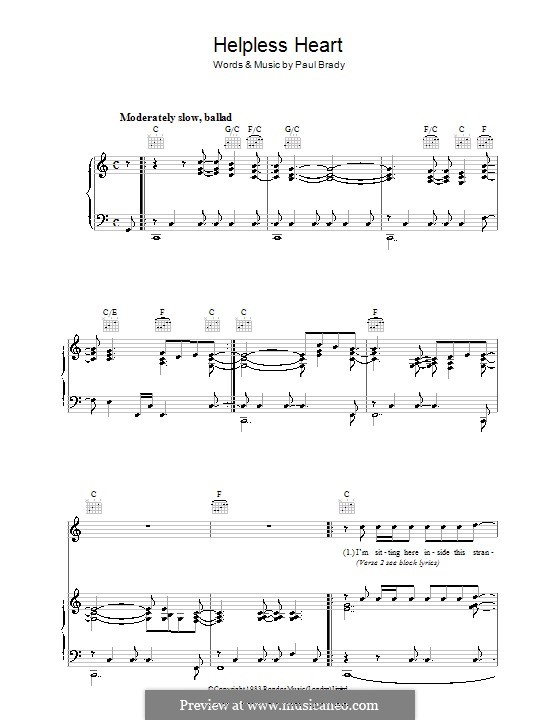 Helpless Heart: For voice and piano (or guitar) by Paul Brady