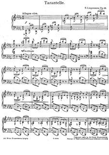 Tarantelle, Op.25: Tarantelle by Sergei Lyapunov