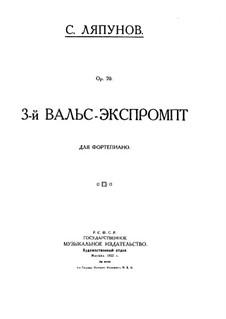 Valse-Impromptu No.3, Op.70: Valse-Impromptu No.3 by Sergei Lyapunov
