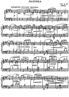 Two Mazurkas, Op.9: Mazurka No.1 by Sergei Lyapunov