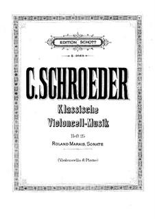 Sonata for Cello and Piano: Sonata for Cello and Piano by Roland Marais
