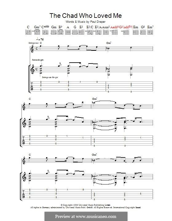 The Chad Who Loved Me (Mansun): For guitar with tab by Paul Draper