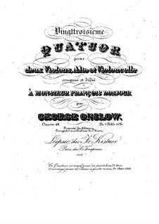 String Quartet No.23 in A Major, Op.48: Parts by Georges Onslow