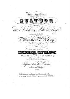 String Quartet No.27 in D Major, Op.53: Parts by Georges Onslow
