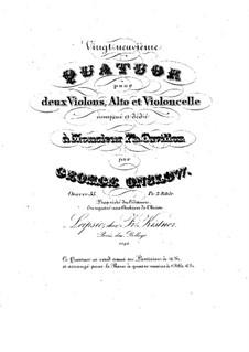 String Quartet No.29 in D Minor, Op.55: Parts by Georges Onslow