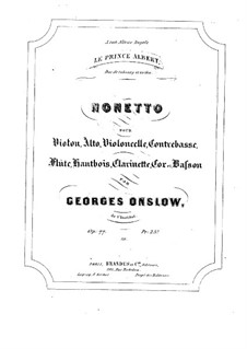 Nonet for Winds and Strings, Op.77a: Parts by Georges Onslow