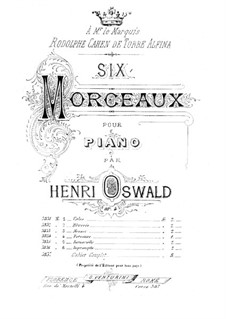 Six Piano Pieces, Op.4: Six Piano Pieces by Henrique Oswald