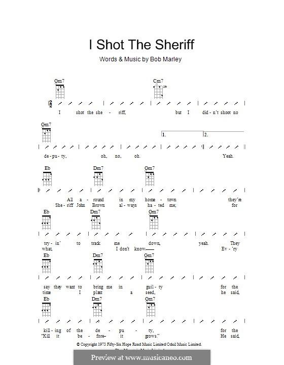 I Shot the Sheriff: For ukulele with strumming patterns by Bob Marley