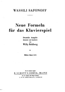 Neue Formeln für das Klavierspiel: Neue Formeln für das Klavierspiel by Vasily Safonov