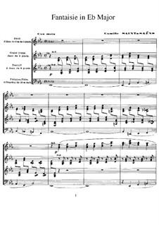 Fantasia for Organ in E Flat Major: Fantasia for Organ in E Flat Major by Camille Saint-Saëns
