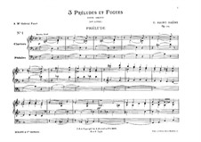 Three Preludes and Fugues, Op.109: For organ by Camille Saint-Saëns