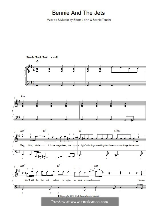 Bennie and the Jets: For easy piano by Elton John