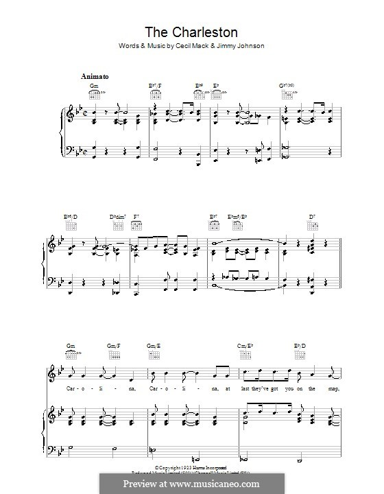 The Charleston: For voice and piano (or guitar) by Cecil Mack