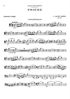 Prière, Op.158: Prière by Camille Saint-Saëns