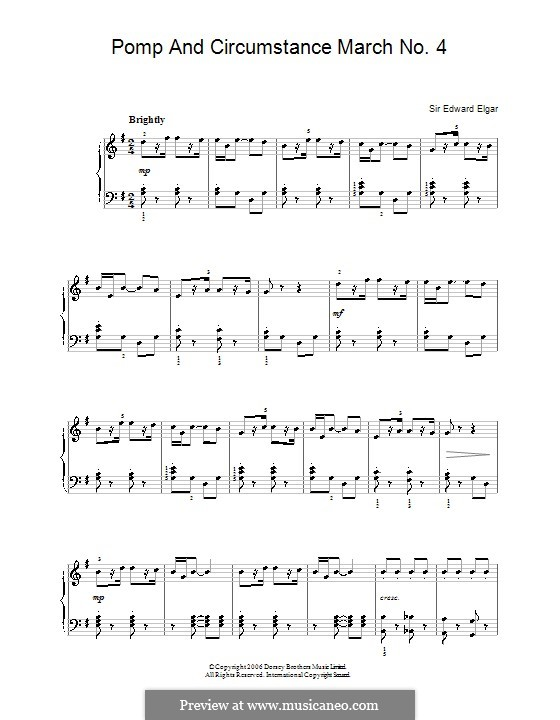 March No.4: For easy piano by Edward Elgar
