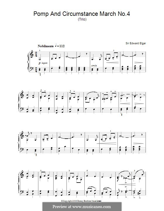 March No.4: For piano by Edward Elgar