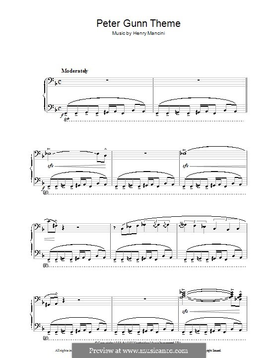 Vocal-instrumental version: For voice and piano (or guitar) by Henry Mancini