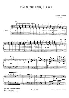 Fantasia for Harp in A Minor, Op.95: Fantasia for Harp in A Minor by Camille Saint-Saëns