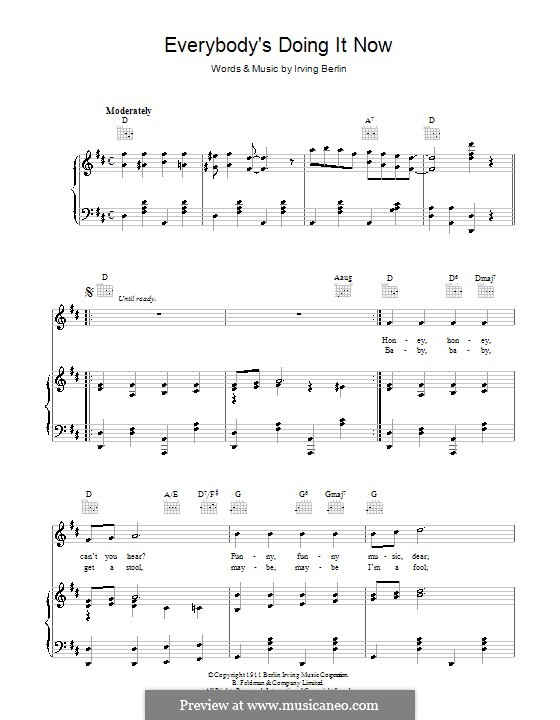 Everybody's Doing It (Now): For voice and piano (or guitar) by Irving Berlin