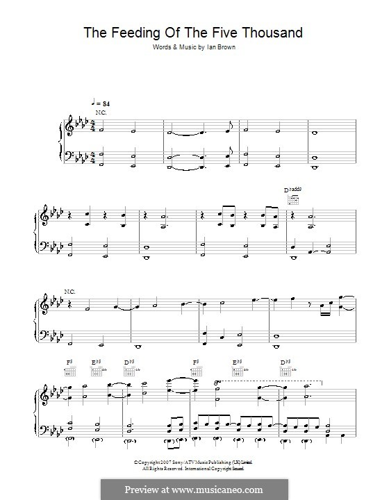 The Feeding of the Five Thousand: For voice and piano (or guitar) by Ian Brown
