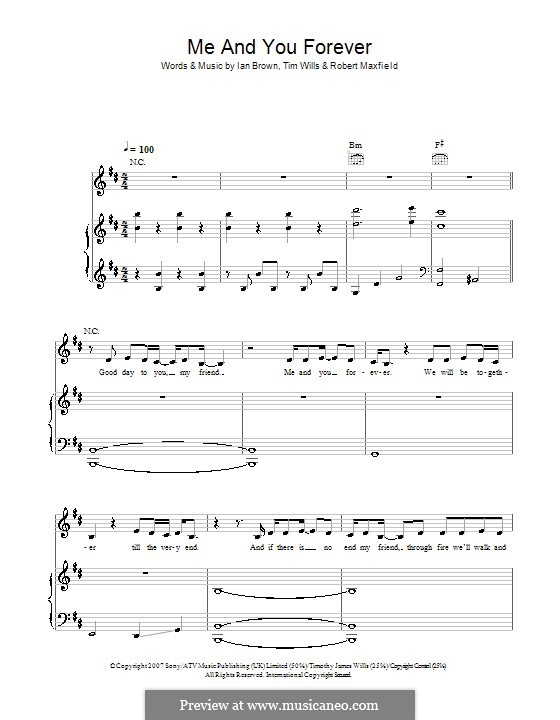 Me and You Forever: For voice and piano (or guitar) by Robert Maxfield, Tim Wills