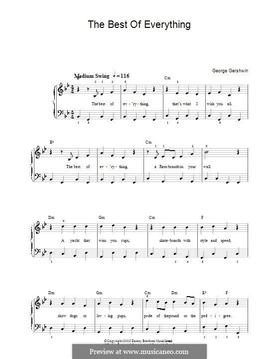 The Best of Everything: For easy piano (Frank Sinatra) by George Gershwin