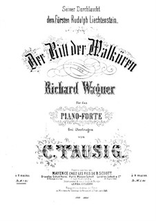 The Valkyrie , WWV 86b: Ride of the Valkyries, for piano by Richard Wagner