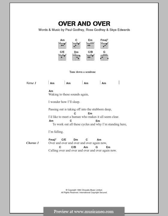 Over and Over (Morcheeba): Lyrics and chords by Paul Godfrey, Ross Godfrey, Skye Edwards