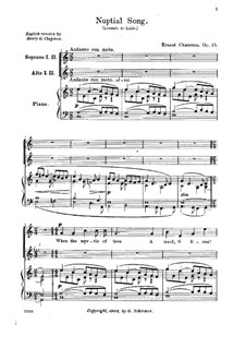 Nuptial Song, Op.15: Nuptial Song by Ernest Chausson