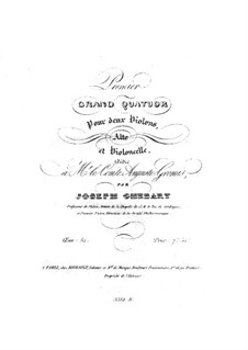 String Quartet No.1 in A Major, Op.52: String Quartet No.1 in A Major by Giuseppe Ghébart