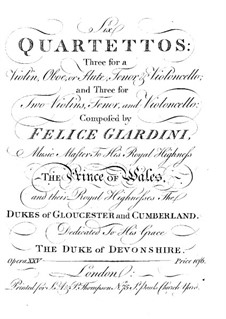 Six Quartets, Op.25: Six Quartets by Felice Giardini