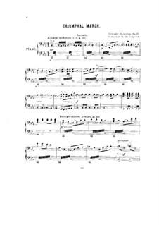 Triumphal March, Op.40: Arrangement for piano four hands – parts by Alexander Glazunov