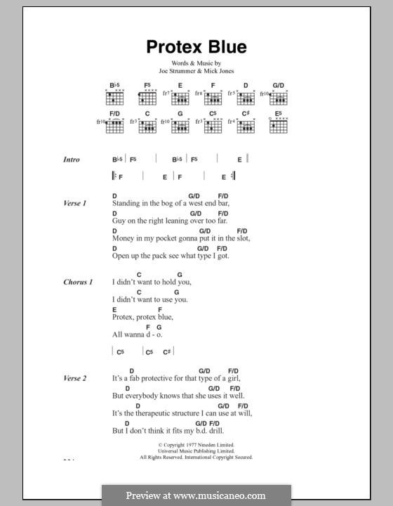 Protex Blue (The Clash): Lyrics and chords by Joe Strummer, Mick Jones