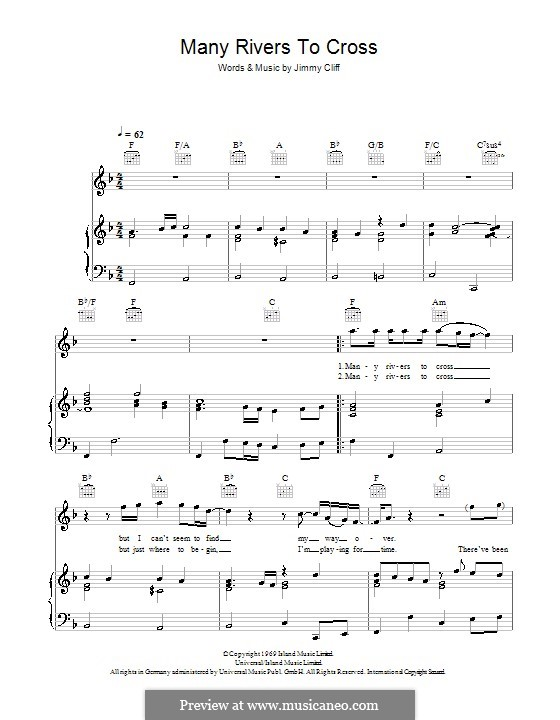 Many Rivers to Cross (UB40) by J. Cliff - sheet music on MusicaNeo