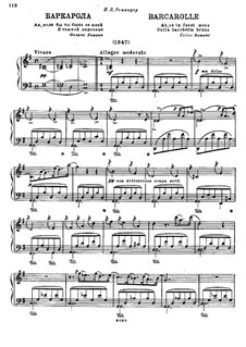 Barcarole for Piano in G Major: Barcarolle for Piano in G Major by Mikhail Glinka