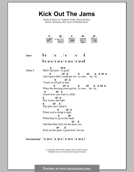 Kick Out the Jams by D. Thompson, F. Smith, M. Davis, R. Tyner, W ...