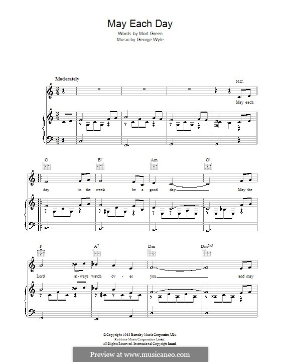 May Each Day: For voice and piano (or guitar) by George Wyle