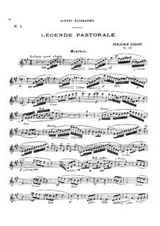 Légende pastorale, for Oboe and Piano, Op.138: Score, solo part by Benjamin Godard