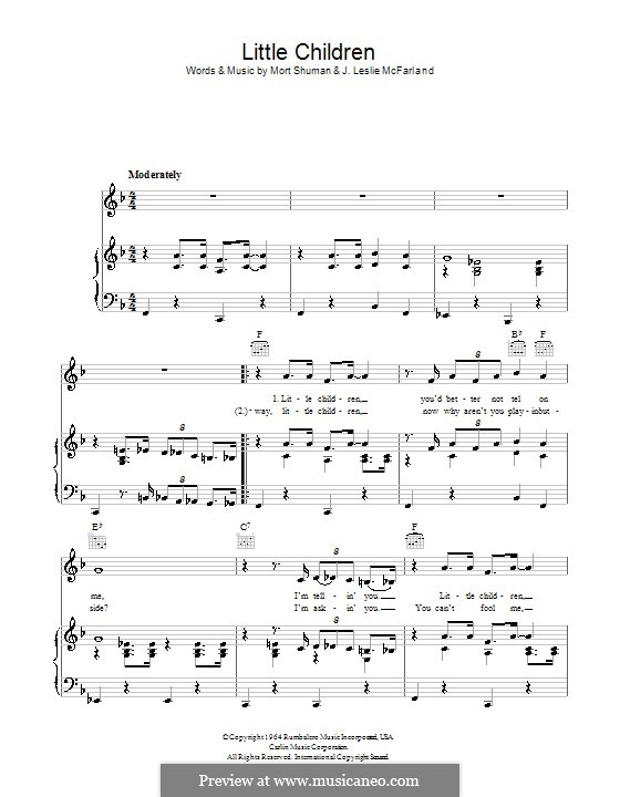 Little Children: For voice and piano (or guitar) by J. Leslie McFarland