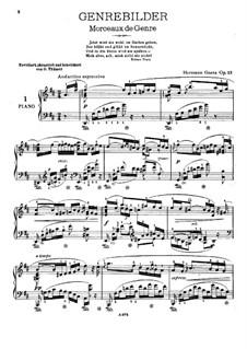 Genrebilder, Op.13: Genrebilder by Hermann Goetz