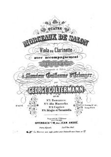 Quatre Morceaux de Salon, Op.35: Quatre Morceaux de Salon by Georg Goltermann